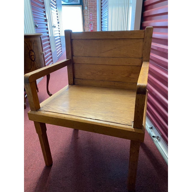 1970s Rustic Wood Side Chairs - a Pair For Sale - Image 9 of 10