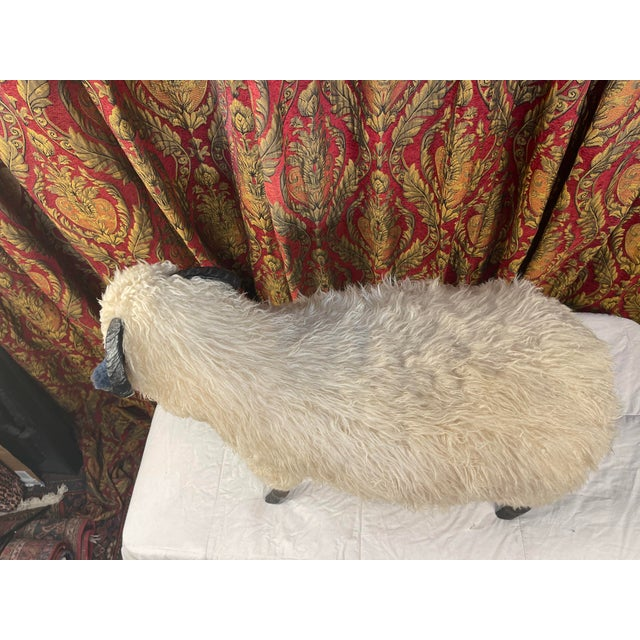 Life Size Vintage Sheep Ottoman in the Style of Lalanne For Sale - Image 9 of 11
