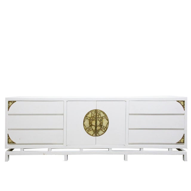 Lacquered Credenza/Dresser by Frank Kyle With Pepe Mendoza Hardware For Sale - Image 9 of 9