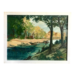 """""""A Restful Place"""" Original Oil by Loran Percy 1969 For Sale"""