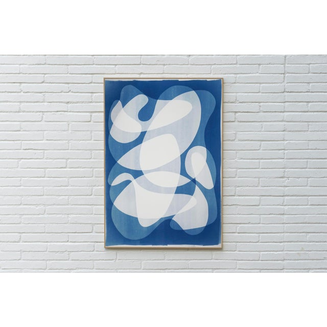 Watercolor 2020 Contemporary Abstract Cyanotype Cutout by Kind of Cyan For Sale - Image 7 of 11