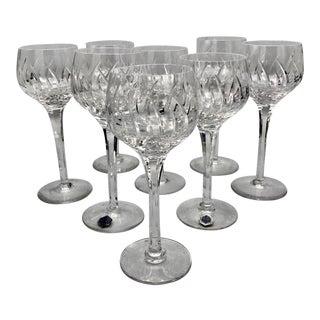 Vintage Stuart Contessa Crystal Hock Glasses - Set of 8 For Sale