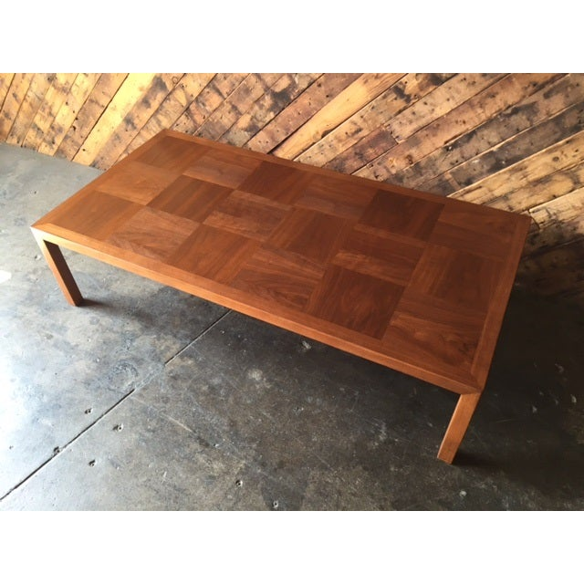 Mid-Century Refinished Parsons Style Coffee Table - Image 3 of 7