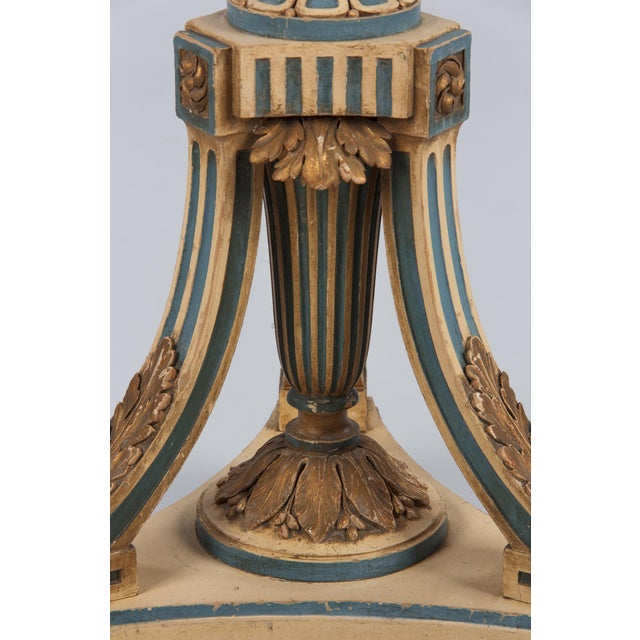 1940s Louis XVI Style Painted Wooden Floor Lamp For Sale - Image 11 of 13