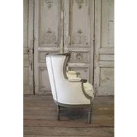 19th Century Antique French Louis XVI Style Wing Chair - Image 6 of 6