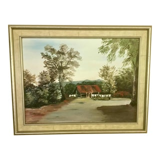 Contemporary Framed Landscape Oil Painting For Sale