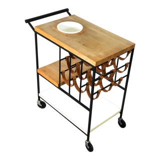 1950s Modernist Arthur Umanoff Bar Serving Cart