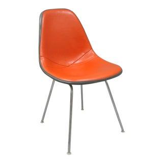 Herman Miller Orange Padded Vinyl Side Chair