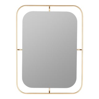 Stacie Wall Mirror, Gold For Sale