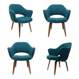 1960s Vintage Saarinen for Knoll Executive Bentwood Armchairs - Set of 4 For Sale