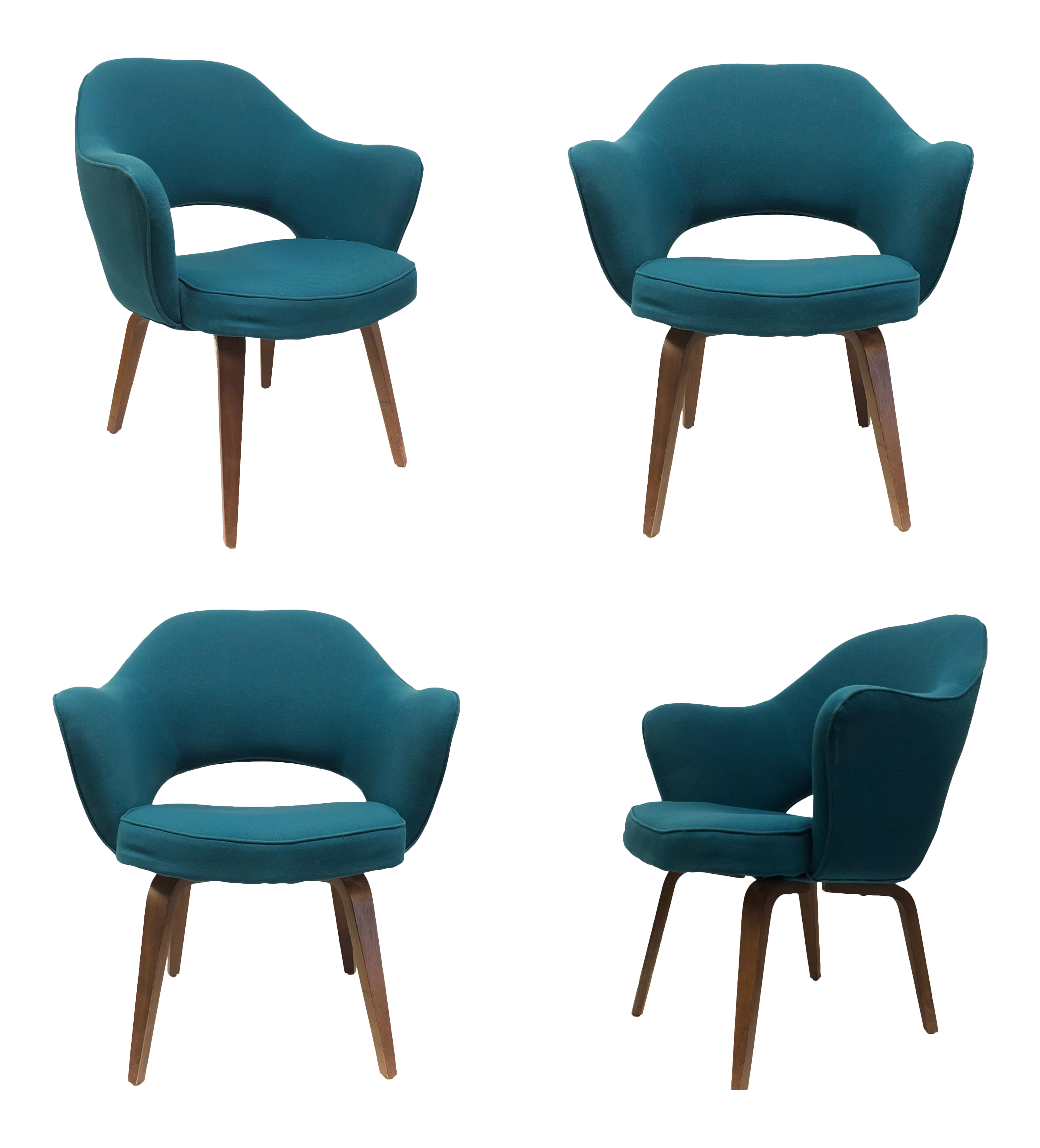 1960s Vintage Saarinen For Knoll Executive Bentwood Armchairs   Set Of 4  For Sale