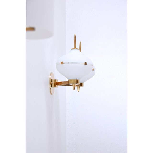 Pair of Stilnovo Sconces For Sale In Los Angeles - Image 6 of 8