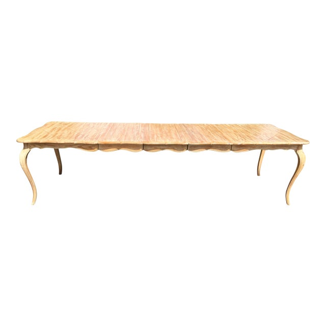 1950s French Country Style Long Dining Table For Sale