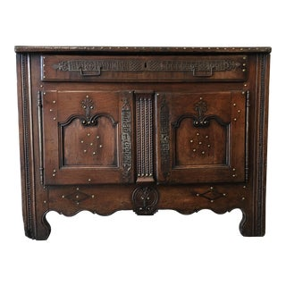 18th C. French Antique Oak Buffet For Sale