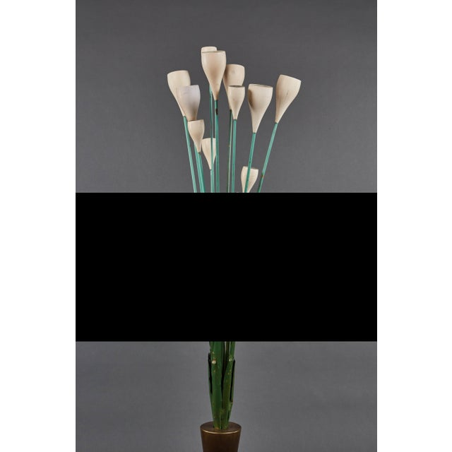 """Mid-Century Modern Large """"Calla"""" Floor Lamp in the Manner of Angelo Lelii for Arredoluce For Sale - Image 3 of 8"""