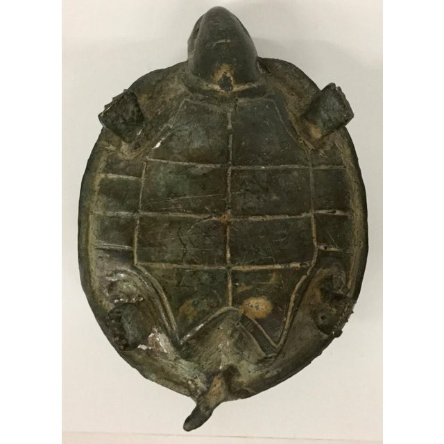 1940s Antique Bronze Turtle Accent Piece Paperweight For Sale - Image 9 of 12