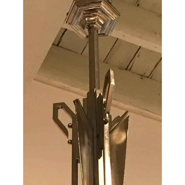 """German Art Deco Chandelier with """"Skyscraper"""" Motif - Image 10 of 10"""