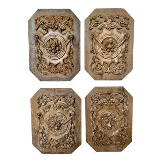19th Century Italian Carved Panels - Set of 4 For Sale