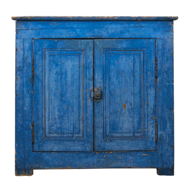 Indigo Painted Buffet For Sale - Image 13 of 13