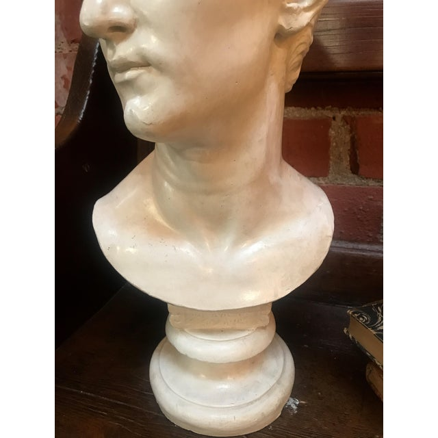 Bust of Ottaviano Augusto, Roman Emperor, Plaster Portrait, Copy in Scale 1/1 For Sale In Los Angeles - Image 6 of 7