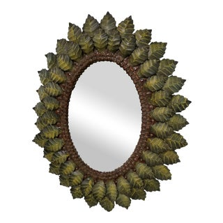 Hand Forged Leaf Metal Mirror