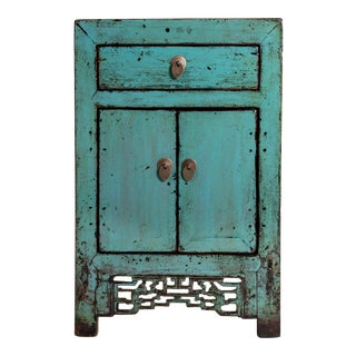 Chinese Painted Cabinet With a Drawer and Pair of Doors For Sale