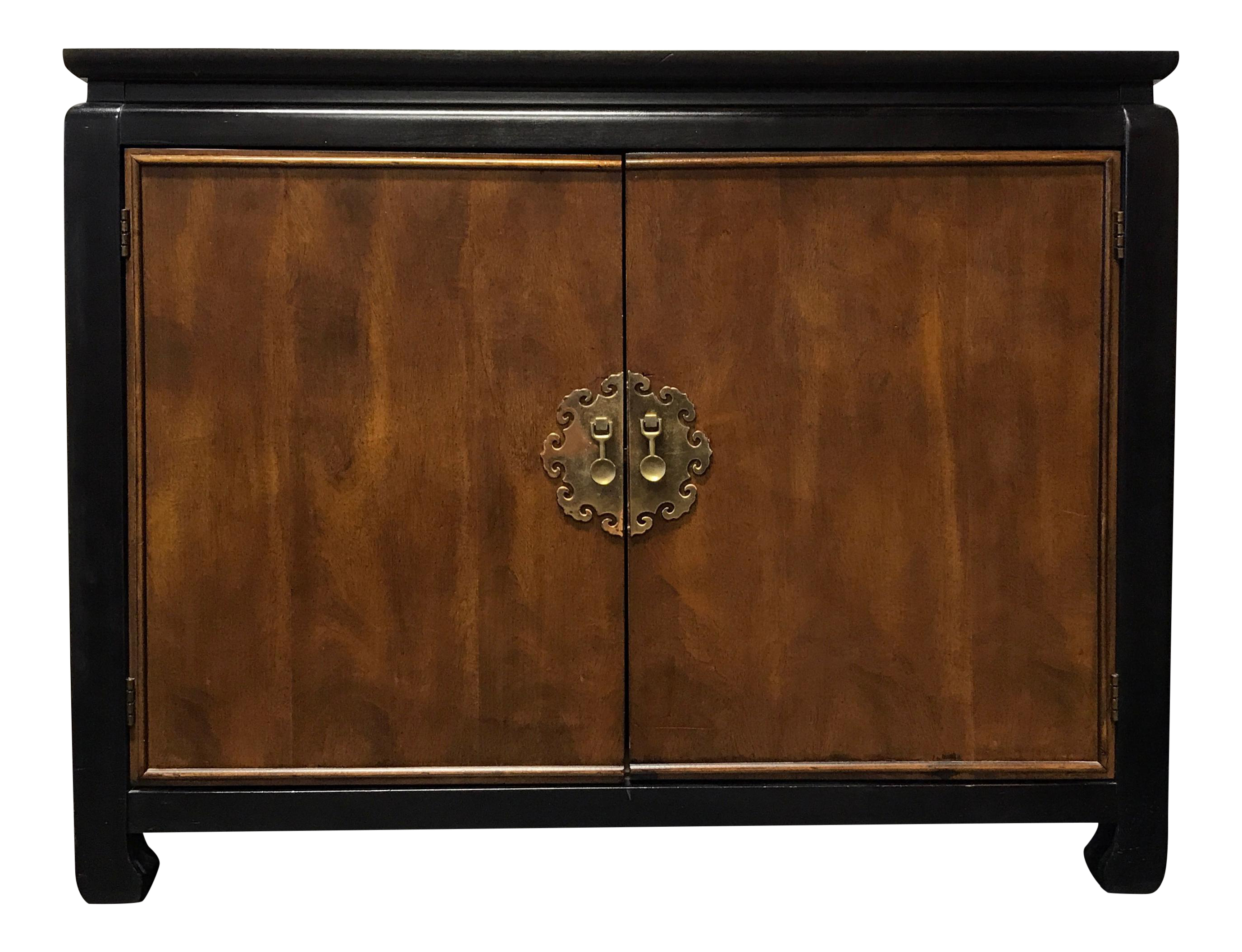 Captivating Chin Hua Style Asian Influenced Console Cabinet / Television Stand