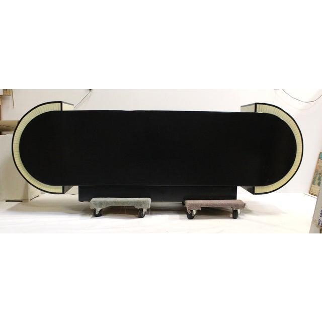 Pierre Cardin Style Black Modern Four-Door Buffet - Image 7 of 10