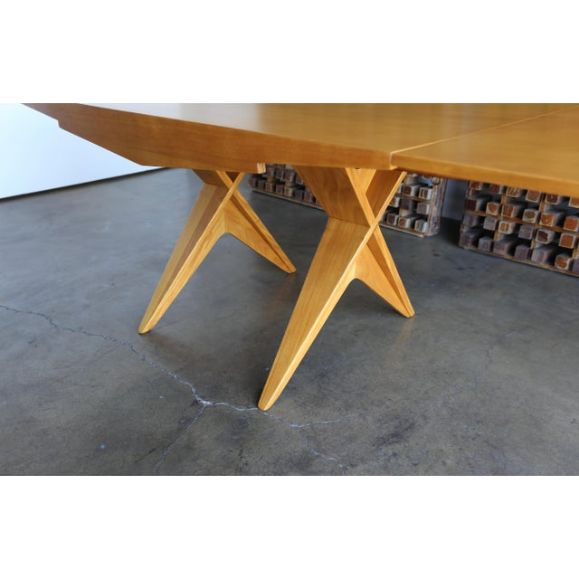 Mahogany 1940s Dan Johnson Dining Table For Sale - Image 7 of 10