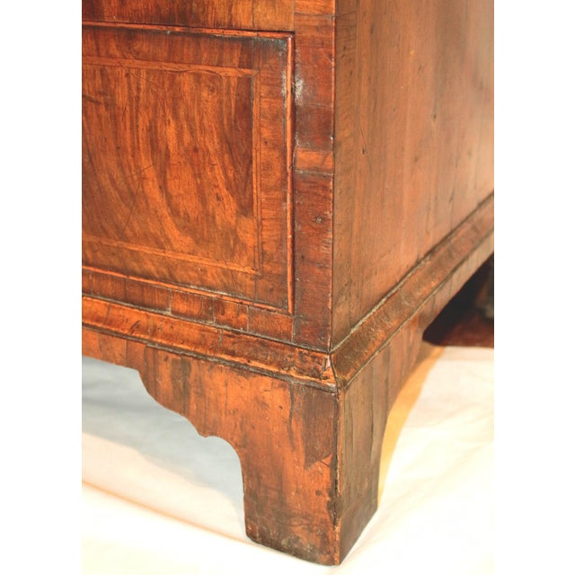 18th Century English George II Walnut Bachelor's Chest For Sale - Image 4 of 11
