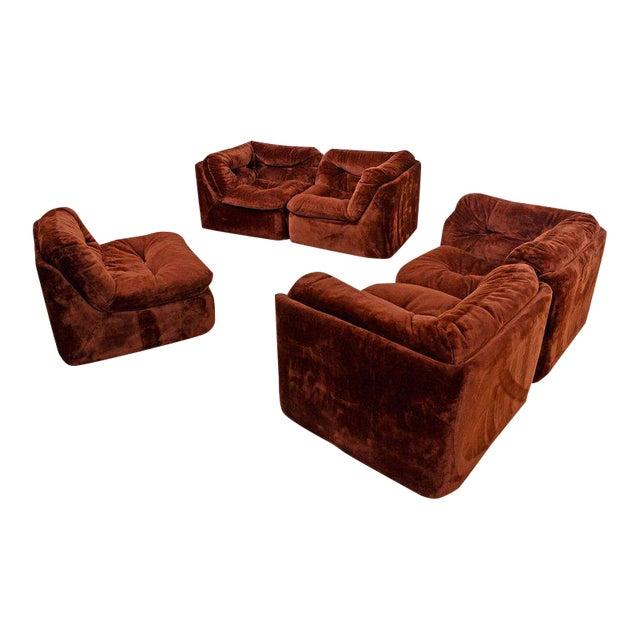 Remarkable Mid Century Modern 1970S Sofa Sectional Pit Group Creativecarmelina Interior Chair Design Creativecarmelinacom