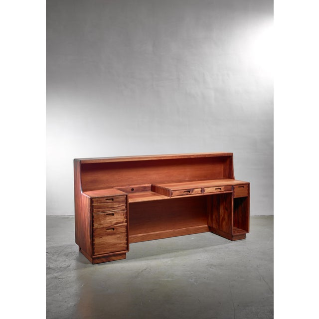 1970s Unique and Large Jim Sweeney Wooden Studio Craft Desk, Usa, 1970s For Sale - Image 5 of 5