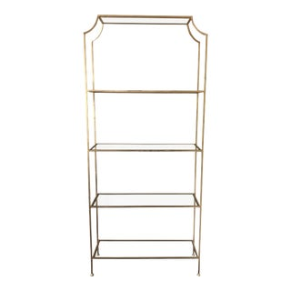 Contemporary Worlds Away Chloe Gold Etagere For Sale
