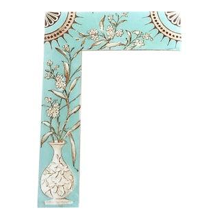 Art Deco Chinoiserie Floral Porcelain Menu For Sale