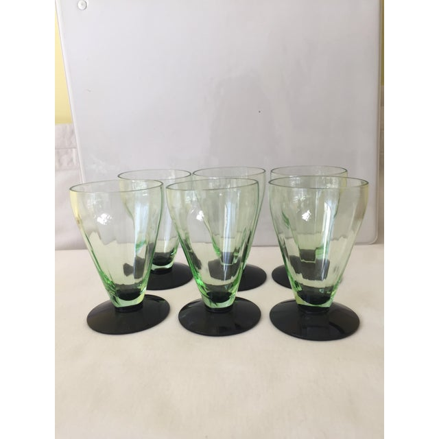 Emerald Green Cocktail Glasses - Set of 6 - Image 4 of 5