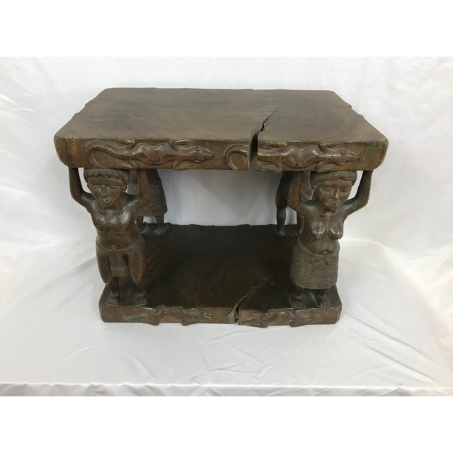 20th Century Tribal Single Log Carved Stool For Sale - Image 9 of 9