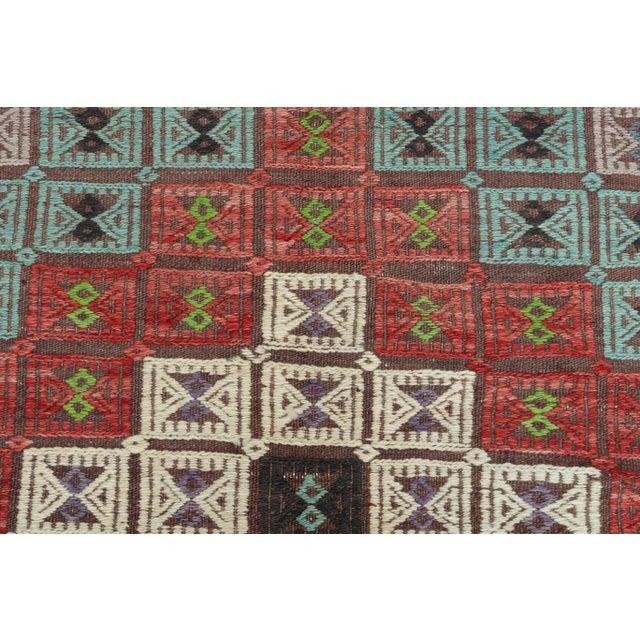 Vintage Turkish Kilim Rug-6′ × 12′8″ For Sale - Image 9 of 13