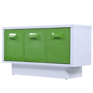 Broyhill Chapter One Raymond Loewy Inspired Green and White Credenza