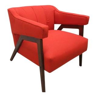 Mid-Century Design Danish Modern Orange Lounge Club Chair For Sale