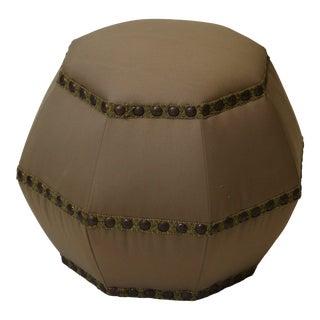 Contemporary Octagonal Ottoman/Pouf For Sale