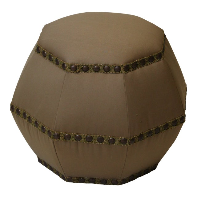 Contemporary Octagonal Ottoman/Pouf For Sale