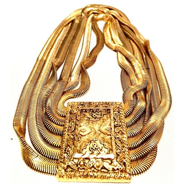 Modern 20th Century Les Bernard Inc. Gold Choker Necklace For Sale - Image 3 of 11