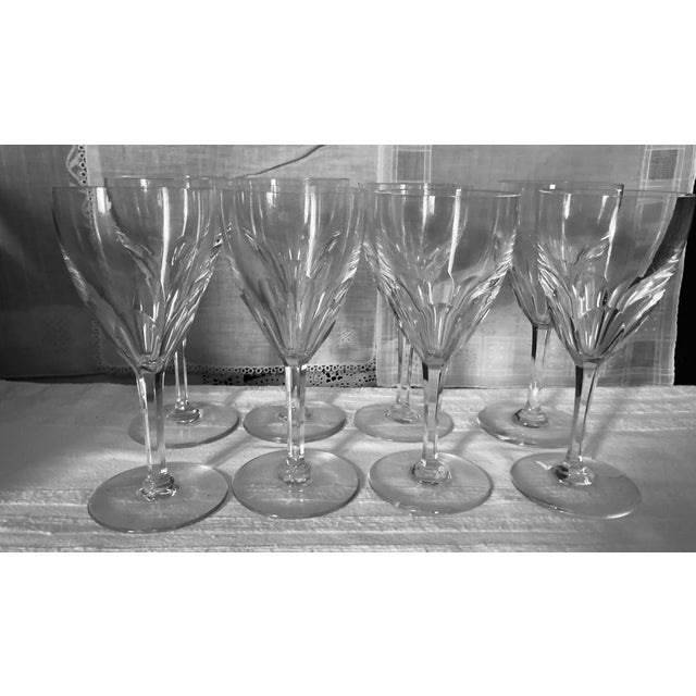 1980s Baccarat Genova Cut Tall Water Glasses, France - Set of 8 For Sale - Image 10 of 10