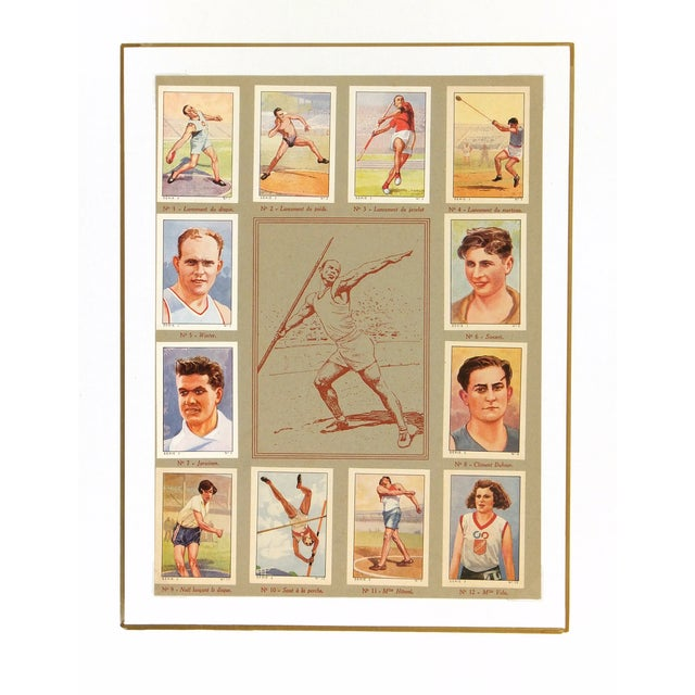 French Vintage Athletics Print, France 1937 For Sale - Image 3 of 3