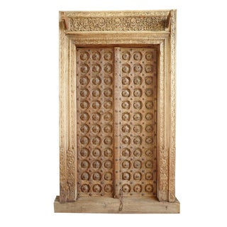 Antique Raja Indian Door For Sale