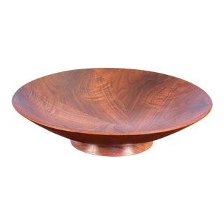 Gladmark Walnut Inlay Serving Bowl For Sale