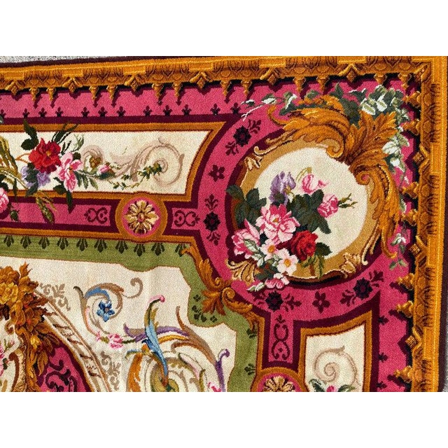 1920's Antique English Chenille Rug 12 by 15 For Sale In New York - Image 6 of 10