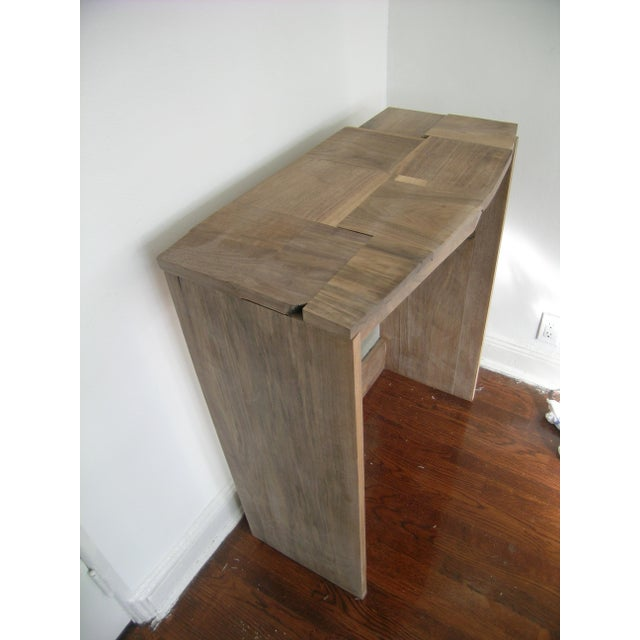 2010s Contemporary Fashion Inspired Walnut Console Table For Sale - Image 5 of 9
