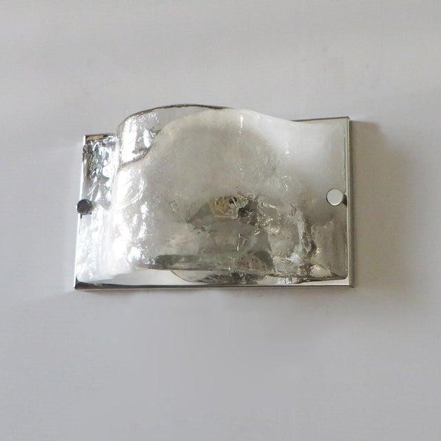 Contemporary Carlo Nason Murano Glass Sconce / Flush Mount For Sale - Image 3 of 6