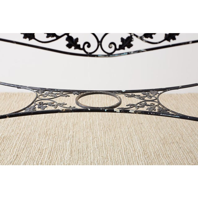 Salterini Style Wrought Iron Patio Garden Table For Sale In San Francisco - Image 6 of 13